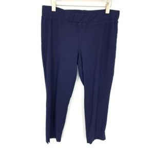Eileen Fisher Blue Pull On Viscose Ankle Pants